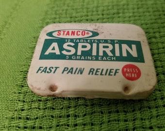 Vintage Stanco Aspirin Tablet Tin