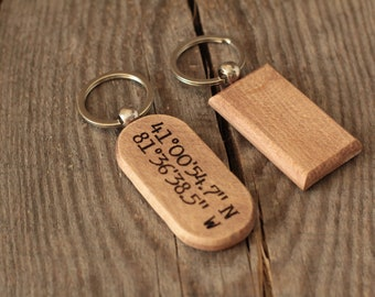New Driver Keychain Wooden Keychain Keychain for men and women Handcrafted Spalted Maple Wood Key Chain Excellent New Driver Gift