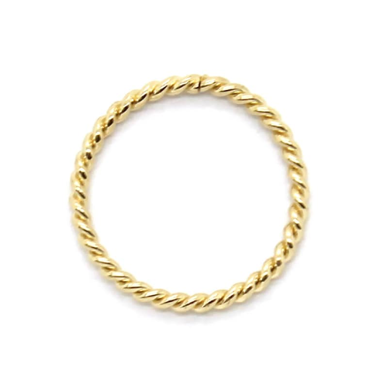 """14K Solid Yellow Gold Seamless Hoop Lip Cartilage Tragus Nose Ring 22G-1//2/"""""""