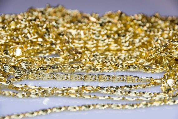 1 Meter=3.3 ft Gold plated Brass Beaded Chains Dainty Craft Jewelry Chain 1.1mm Cable Chain with 1.5mm Cube Beads #LK-439