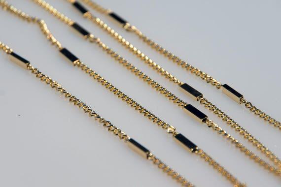 10 m Gliederkette Halskette Bronze Statement Meterware Kette Schmuck 2,5 x 4 mm