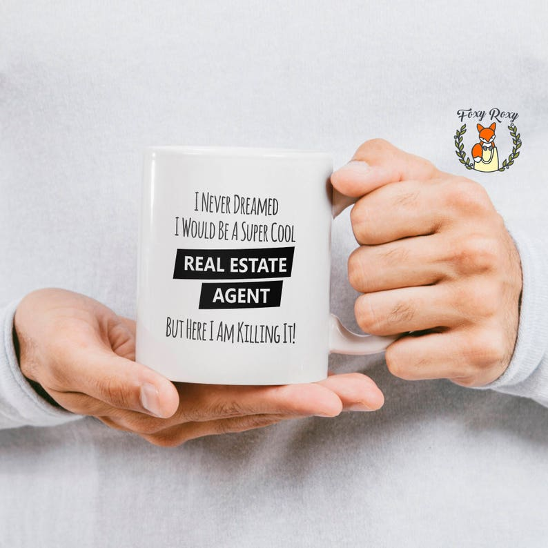 Real Estate Agent Coffee Mug Realtor Gift Real Estate Etsy