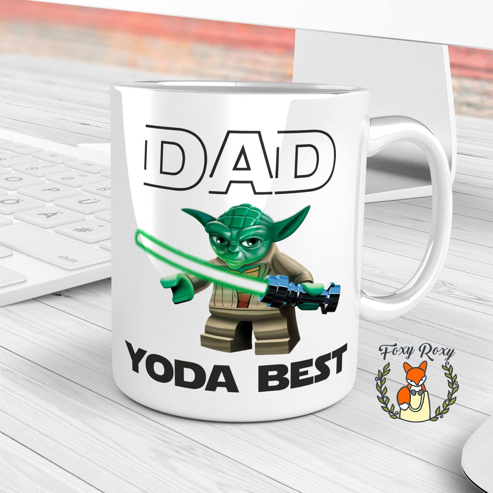 mug papa yoda meilleur mug star wars cadeau pour papa etsy. Black Bedroom Furniture Sets. Home Design Ideas
