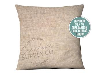 Burlap Pillow Covers Etsy