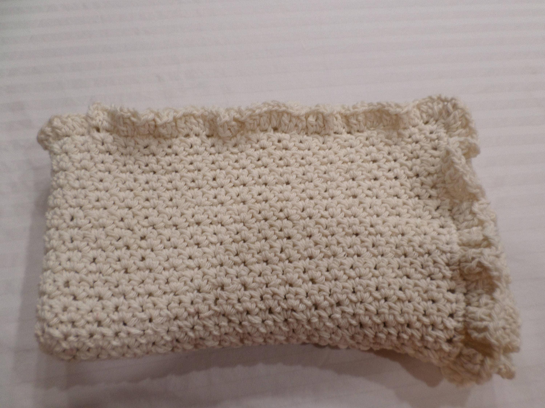 Crochet Cotton Baby Blanket Pattern Ruffled Crochet Afghan Etsy