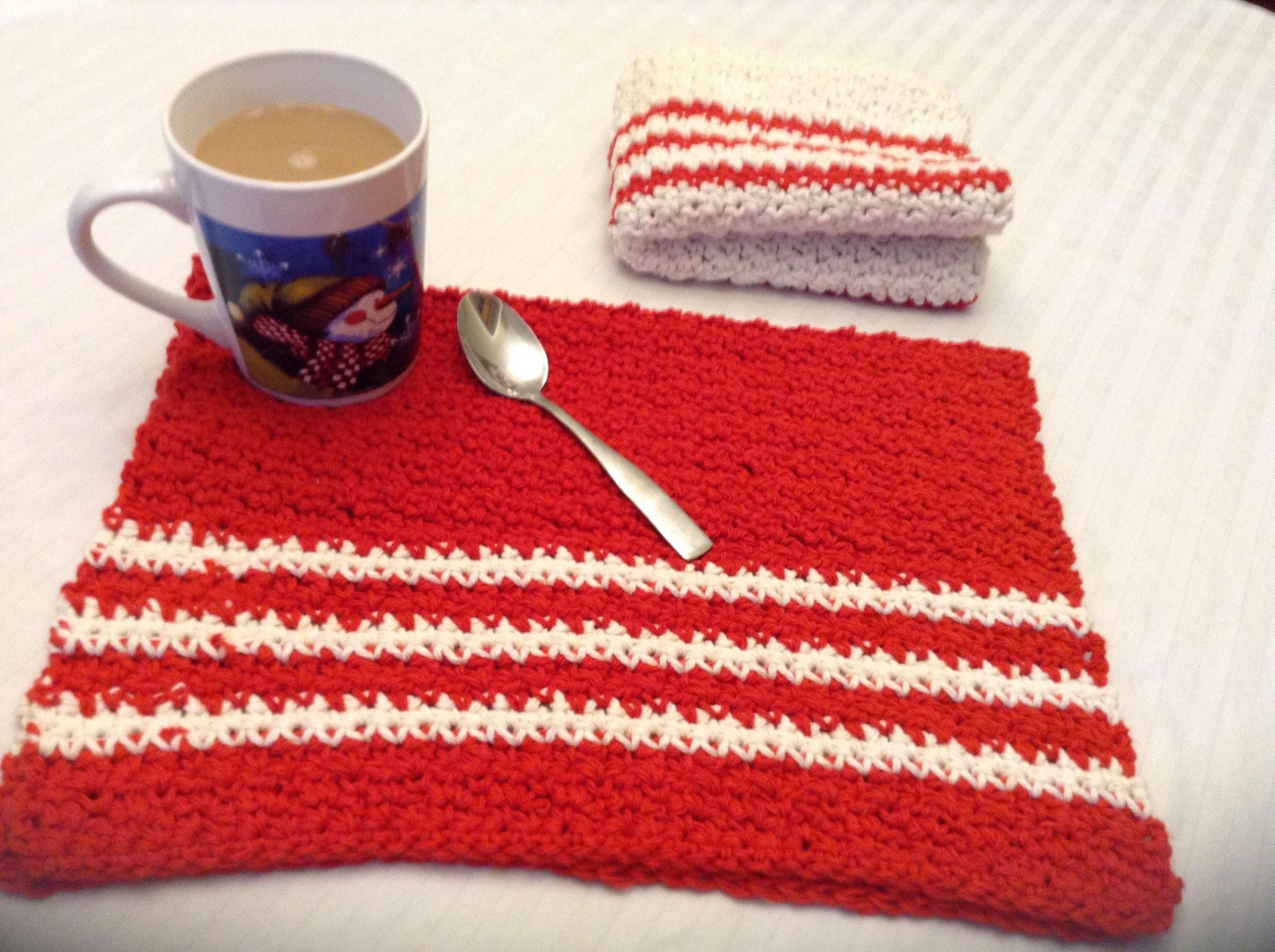 Crochet Dish Towel Pattern Custom Inspiration