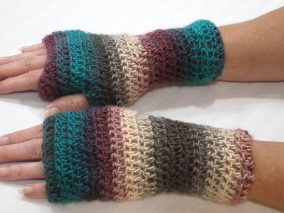 Crochet Fingerless Gloves Pattern Crochet Pattern Easy Etsy