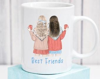 Best friends mug. Printed mug, mugs, coffee mug, personalised mug,  Gift for Her, Custom Gift