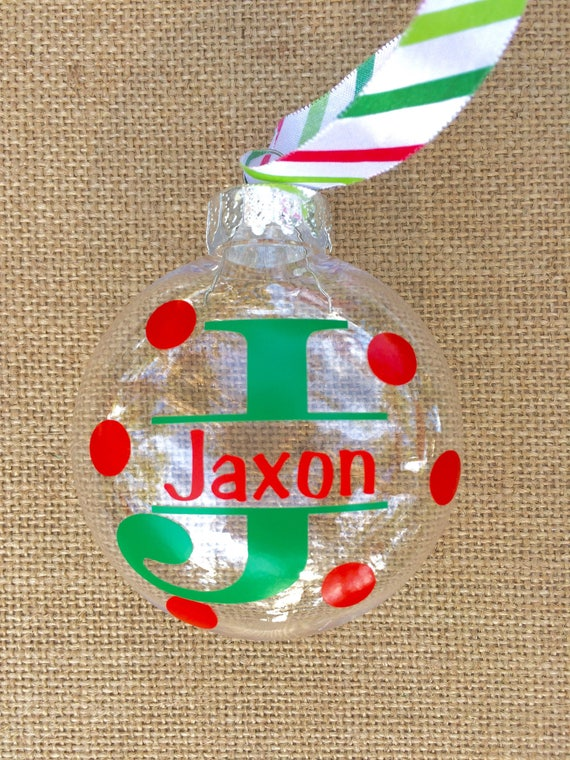 Etsy Christmas Ornaments.Personalized Holiday Ornaments Monogrammed Ornament Custom Ornaments Christmas Decor Christmas Ornaments Polka Dot Ornaments