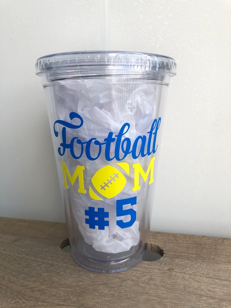 Football Mom Tumbler Cups Custom Tumbler Tumbler Cup Tumbler With Straw Personalized Tumbler With Straw Individual