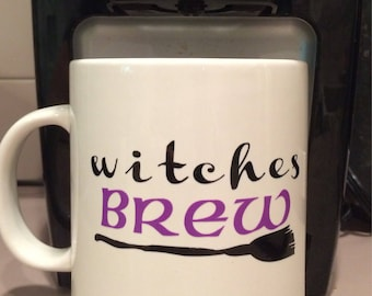 Witches Brew Fall Coffee Mug [Custom Coffee Mugs] - Personalized Coffee Mugs & Cups - Choose a Quote and Color