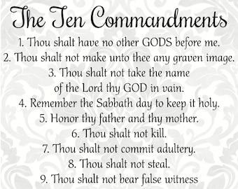 10 commandments | Etsy