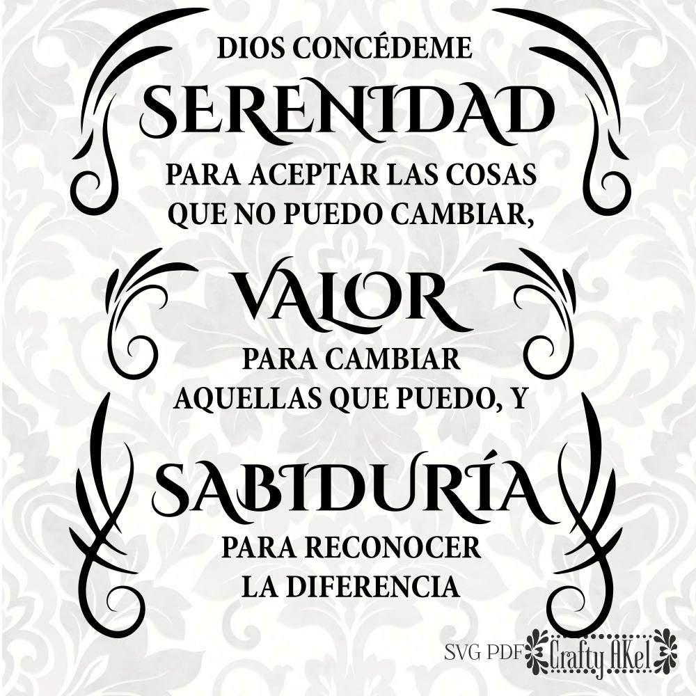 Bonito Oración De La Serenidad Enmarcado Colección - Ideas ...