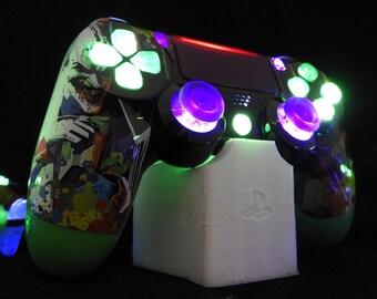 PS4 Custom Controller/Gamepad -Enhanced JOKER2 Why So Serious? SE Illuminating Design