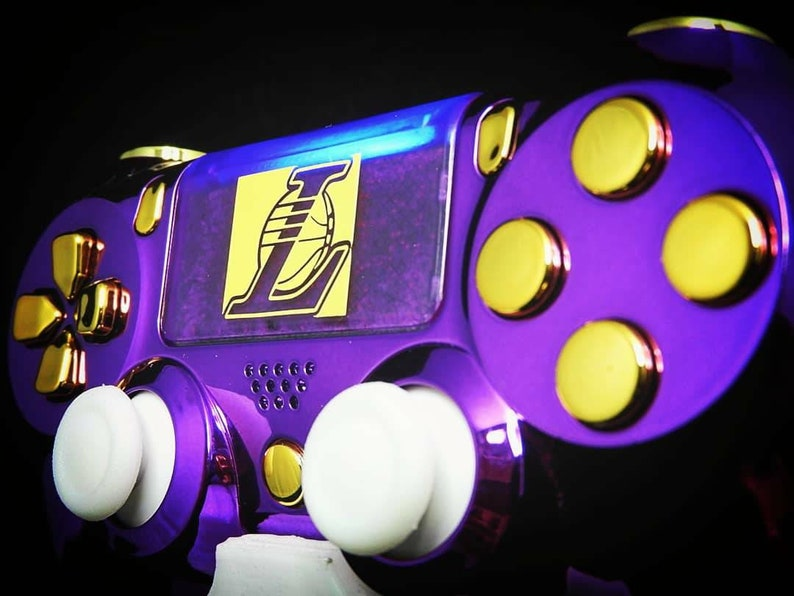 Custom Playstation 4 Controller Gamepad La Lakers Special Edition  88c72b2bc6