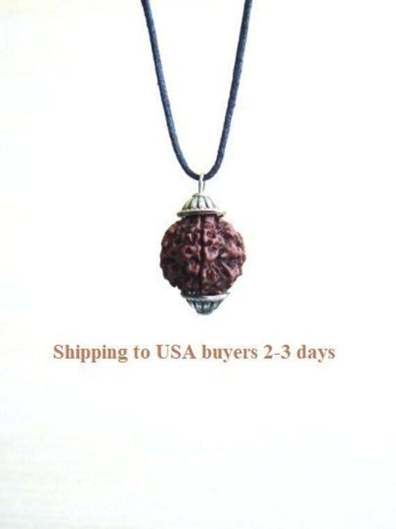 Rudraksha pendant, Shiva necklace, Kundalini jewelry, Hindu mala prayer  beads, Healing seed, Yoga jewellery, Adjustable choker beaded, gift