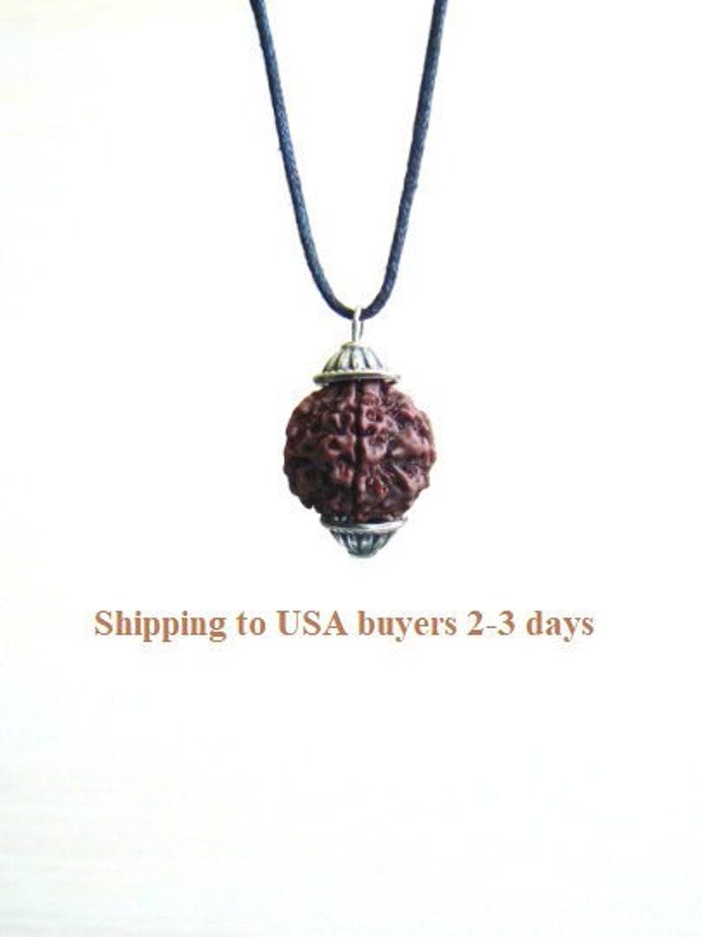 09e751337 Rudraksha pendant Shiva necklace Kundalini jewelry Hindu | Etsy