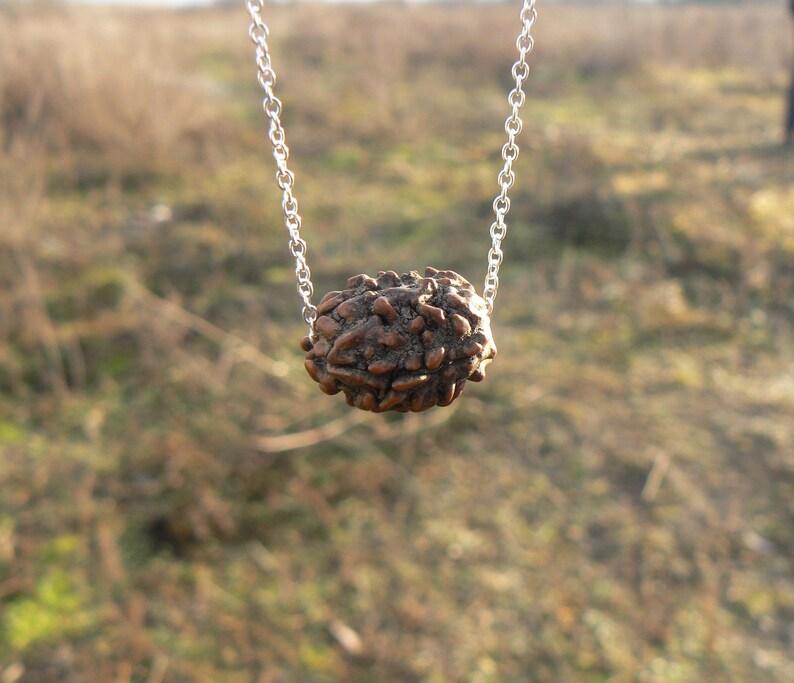 1b81fe1e2 3 Mukhi Rudraksha seed necklace Shiva mala bead Kundalini | Etsy