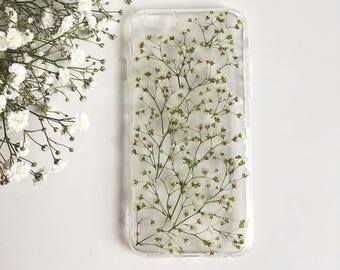 Baby's Breath Phone case, Floral Phone Case, Pressed Flowers Phone Case, Iphone X case, Samsung Galaxy S8 case, Huawei P10 case, Phone Case