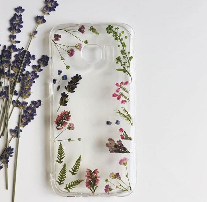 wholesale dealer de77c e6a52 Fancy Pressed Flower Phone Case, Dried Plants Phone Case, iPhone Cases,  Samsung Cases, Huawei Cases, Sony Cases, Xiaomi Cases, Handmade Case