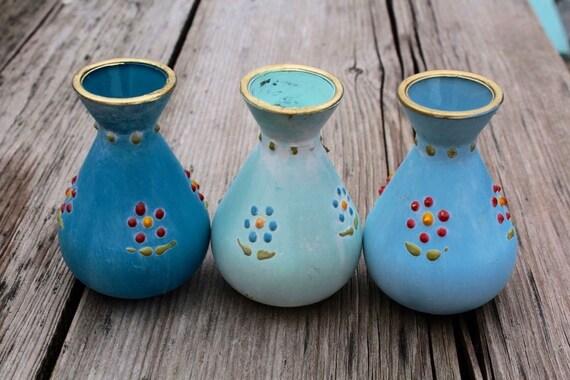 Kleine Vasen handgemalt / Landhausstil