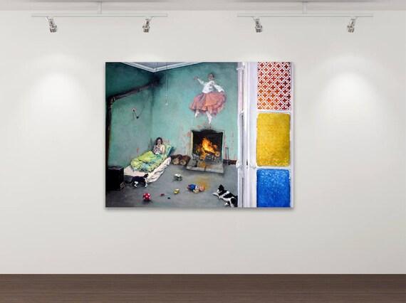 Der Kosmos in mir - Kunstdruck Gemälde von Stephanie Oncken