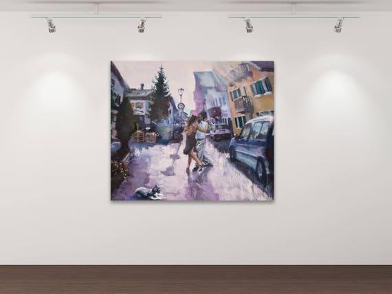 Die Verschmelzung - Kunstdruck Gemälde von Stephanie Oncken