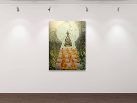 Woanders - Kunstdruck Gemälde von Stephanie Oncken