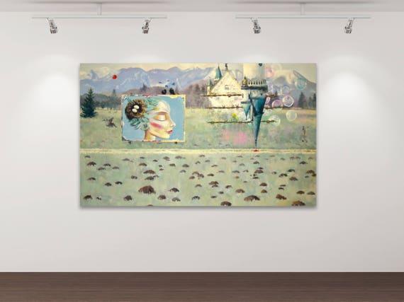 Das Märchen vom Glück 2 - Kunstdruck Gemälde von Stephanie Oncken