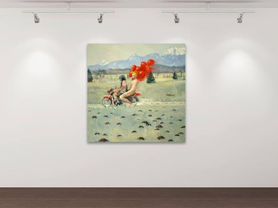 Das Märchen vom Glück 3  - Kunstdruck Gemälde von Stephanie Oncken