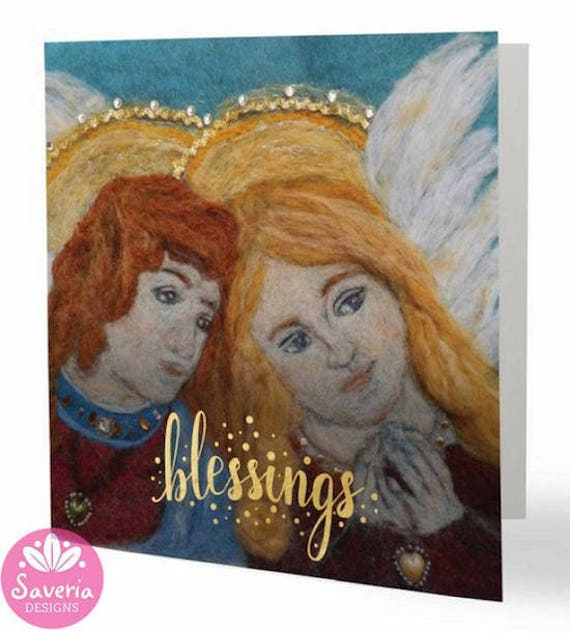 angel blessings, religious greeting card, angel quotes, renaissance angel,  guardian angel card, angel art card, empathy card, spiritual card