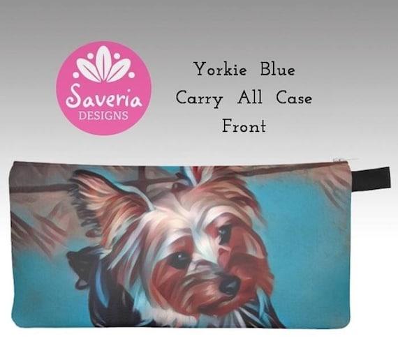 YORKIE puppy beach YORKSHIRE TERRIER dog wallet art card holder change purse