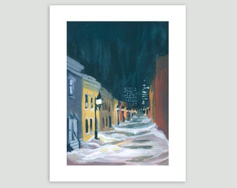 Montreal Art Print - Hidden Street, Montreal – Fine Art Print of Original Painting