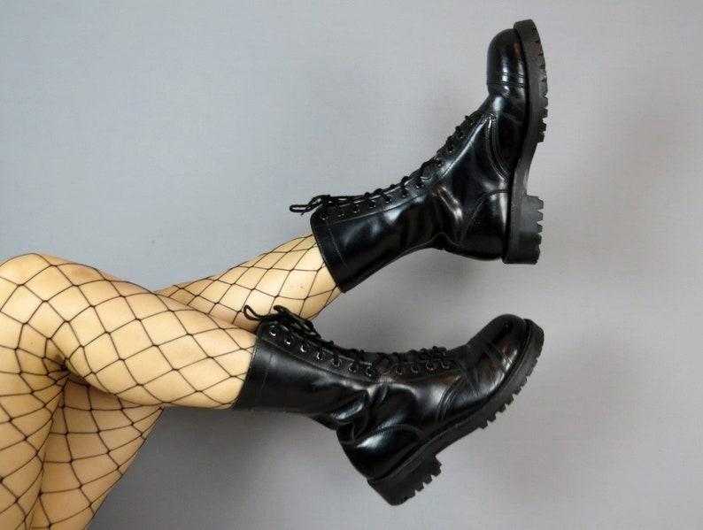 on sale 8116e d0ec6 Black Combat Boots   Gothic Shoes   Alternative Shoes     Etsy