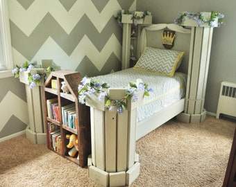 Castle Bed PLANS (in Digital Format)   DIY Princess Themed Room   Kid  Bedroom With Fairytale Decor
