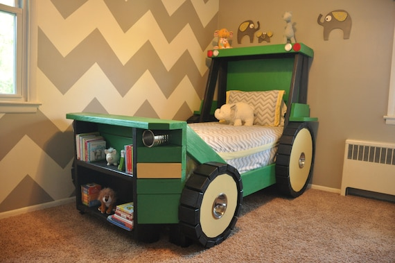 Tractor Bed PLANS In Digital Format For A DIY Farm Themed Etsy Amazing Tractor Themed Bedroom