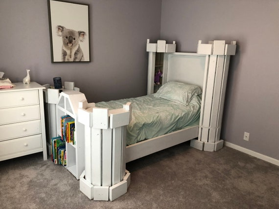 Castle Bed Plans Pdf Format Twin Size Diy Princess Etsy