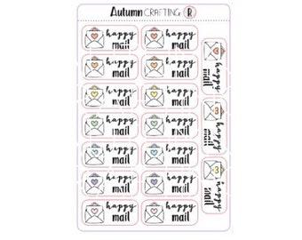 Happy Mail Envelope Stickers