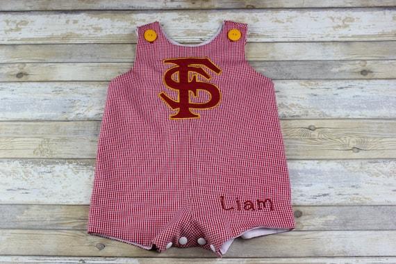 Romper Personalized Red Gingham Jon Jon Baby Fully Lined Toddler Gingham Shortall Gingham