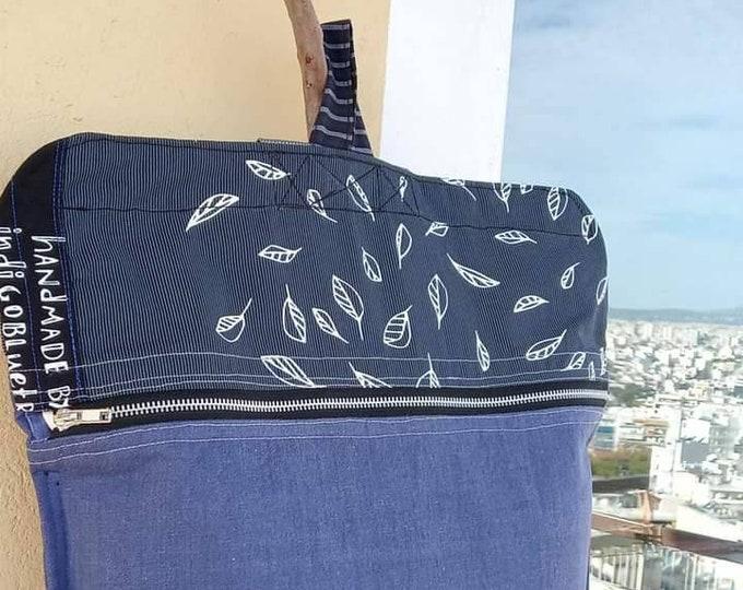 Denim backbag