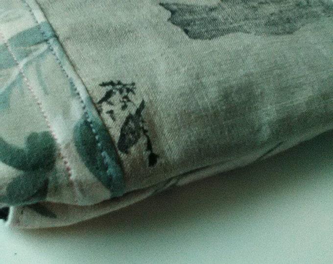 Patchwork pouch, cat pouch, cat print