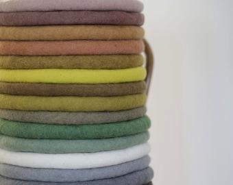 Felt cushions, seat cushions made of 100% wool