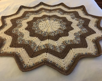 Twelve Point Star Baby Blanket