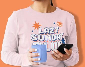 Lazy Sunday Club Long-Sleeve Graphic Tee