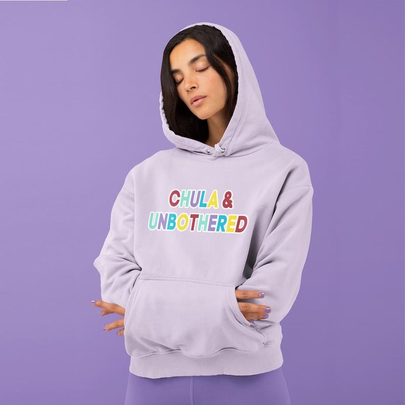 Chula & Unbothered Lavender Sweatshirt  Latina Spanglish image 1
