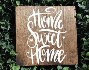 home sweet home sign, rustic sign, welcome sign, housewarming gift, wedding gift