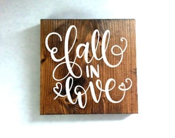 fall in love sign, fall sign, fall decor, autumn sign, autumn decor, valentines day