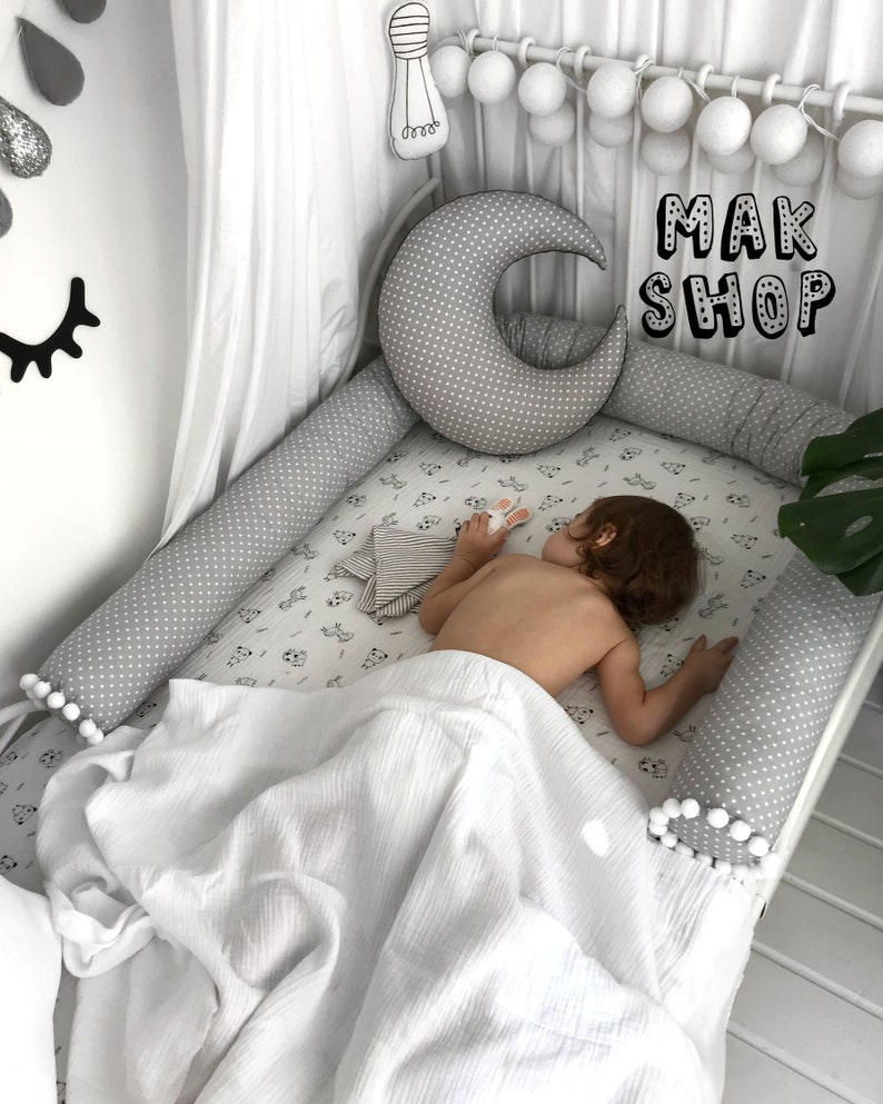 Bon Bed Bumper, Toddler Bed, Baby Bed, Crib Bumper, Snake Pillow, Baby Crib  Bumper, Baby Pillow, Nursery Decor, Baby Nursery, Bumper Pillow