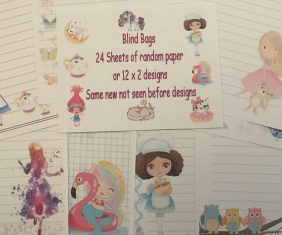 New Russian Dolls Stationery 25 Sheet Letter Writing Paper /& 6 Stickers Set
