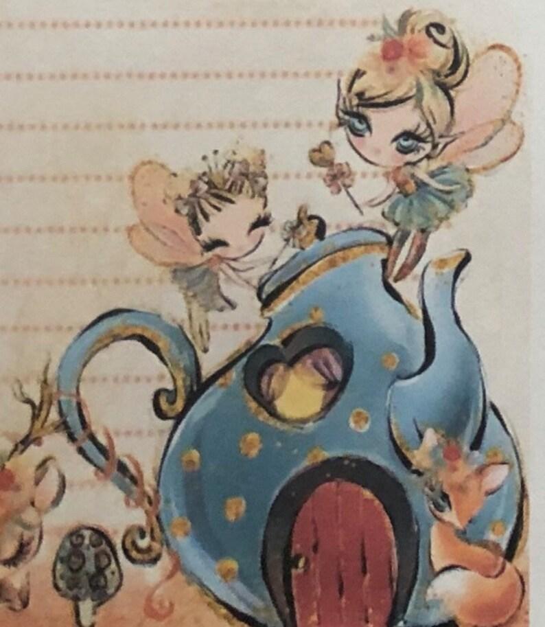STUNNING Woodland Fairyland Stationery letter writing paper /& sticker set